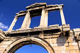 Hadrian's Arch (also known as Hadrian's Gate) was constructed in
