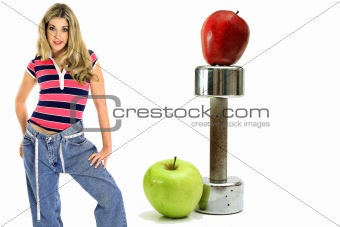 shot of weight loss workout apples
