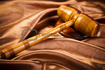 Law theme, mallet of judge!