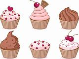 Various cupcake