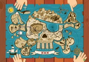 Treasure Map on Desk