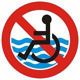 No access beach