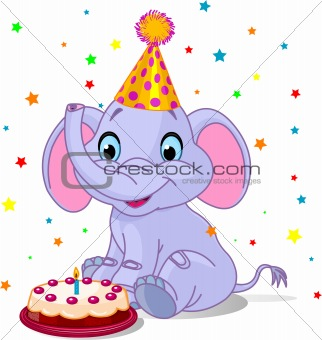 Baby elephant Birthday