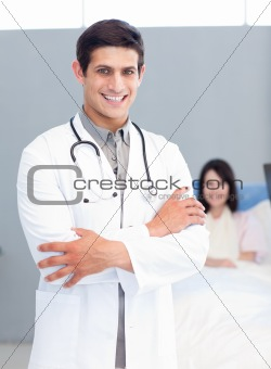 Portrait of a smiling doctor