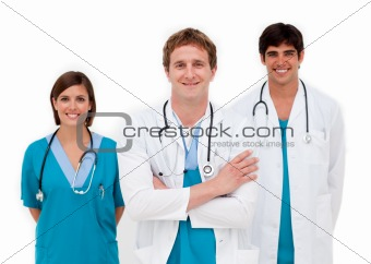 Young doctors smiling at the camera