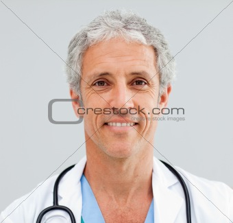 Close up of a happy senior Doctor