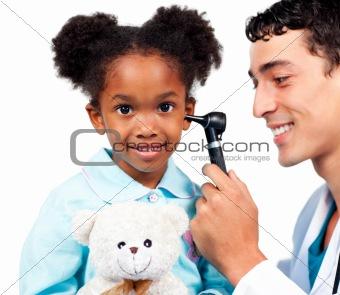Charming girl at a medical visit