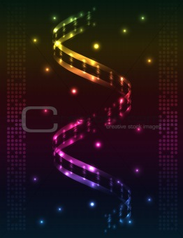 Abstract spiral - colored vector background