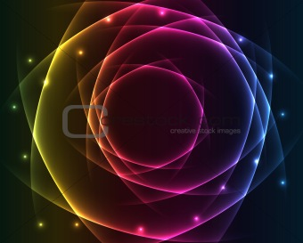 Abstract lights - colored vector background