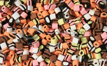 Assorted of colourful candy