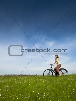 Riding a bicycle