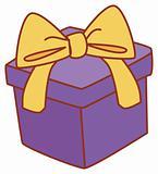 Коробка с подарком нарисованная 96