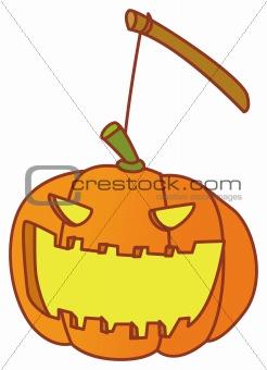 a pumpkin lattern