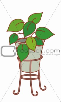 a pot of plants