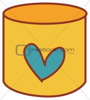 a pencil vase