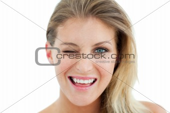Charming Woman winking