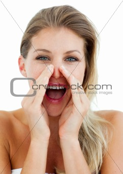 Attractive Woman yelling