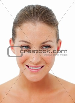 Attractive woman after having a spa treatment