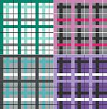 Seamless plaid fabric pattern background
