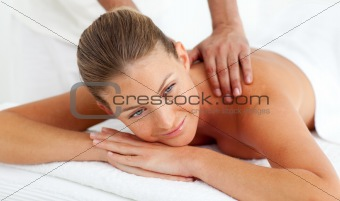 Close-up of woman having a massage