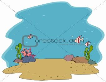 water's bottom