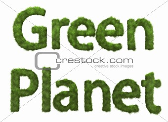 Green Planet sign from plants