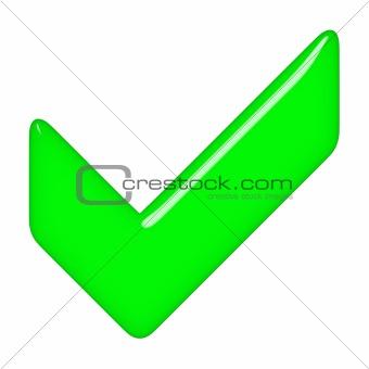 3D Tick Sign