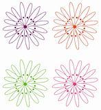 four flowers, four flowers