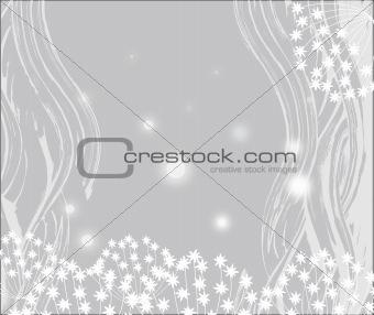 gray flower background