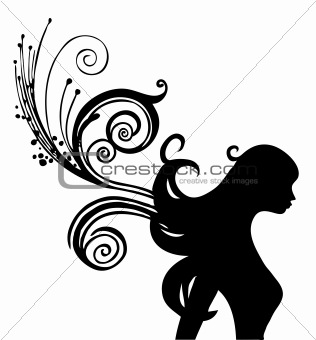 a woman silhouette
