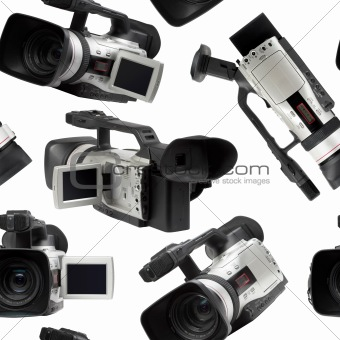 Camcorders seamless wallpaper