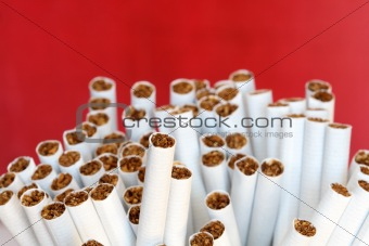 Cigarettes On Red