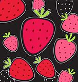 Vector abstract pink fruity strawberry background