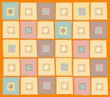 square and flower background