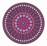 purple round pattern
