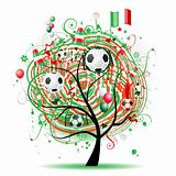 Football tree design, Mexican flag