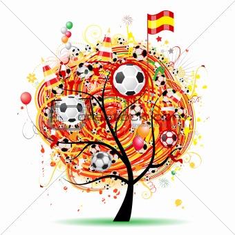 Football tree design, Spanish flag