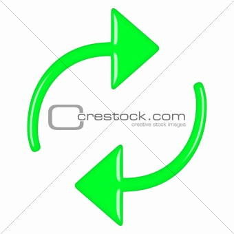 3D Green Circular Arrows