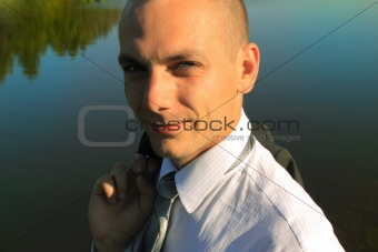 Portrait of the young businessman