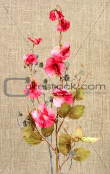 Bouquet with pink artificial flowers