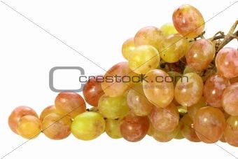 Single bunch of yellow grape
