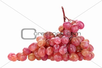 Single bunch of pink grape