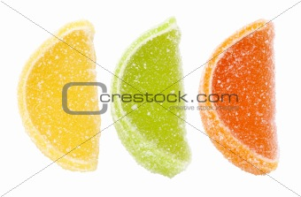 Group of sweets as citrus fruits