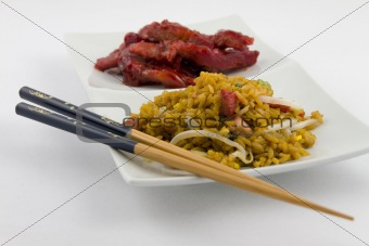 Chinese Food - Boneless spare ribs with Pork fried rice