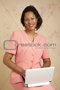 Beautiful Businesswoman on Computer
