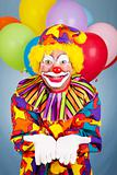 Birthday Clown Open Handed