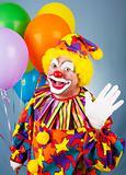 Circus Clown Waves Hello
