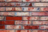 detail of old painted brick wall