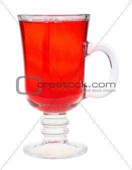 Single glass with grape-fruit juice