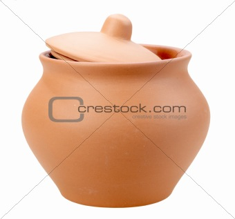 Single closed ceramic pot